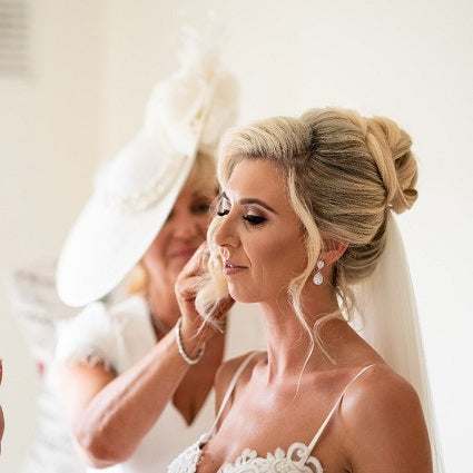 Real Bride Wears Jodie Silver Earrings