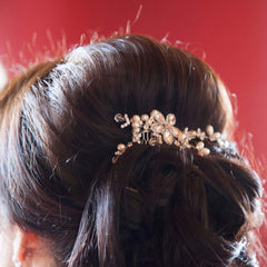 nessa comb on a real bride