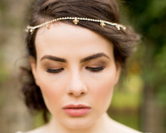 The Marian Gold Headpiece