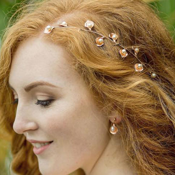 Rose Gold Forest Headpiece