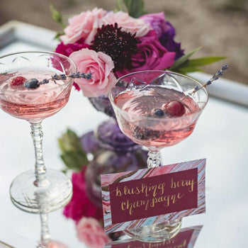 Spring Weddings Inspiration Cocktails