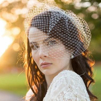 Spring Weddings Inspiration Birdcage Veil