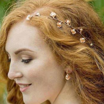 Spring Weddings Inspiration Rose Gold Headpiece
