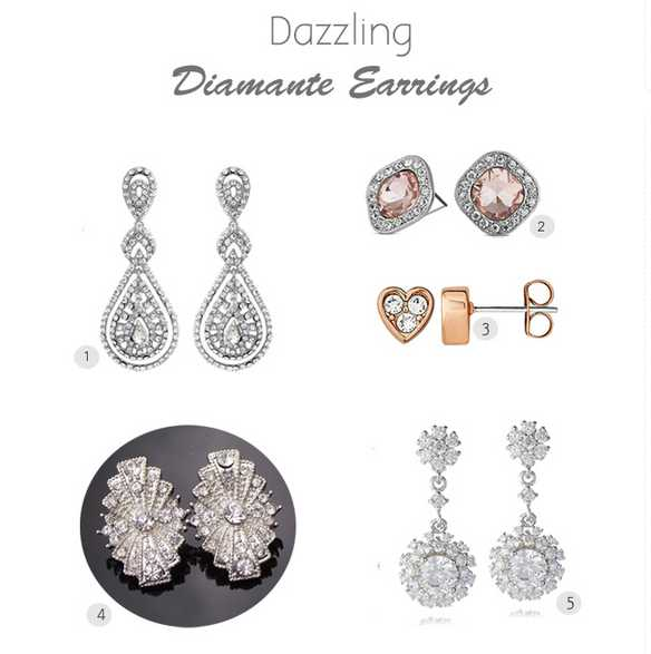 Weddings Online Dazzling Earrings