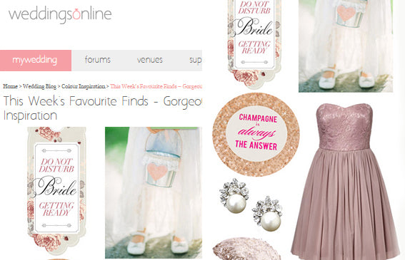 Weddingsonline.ie Features Carrie Earrings