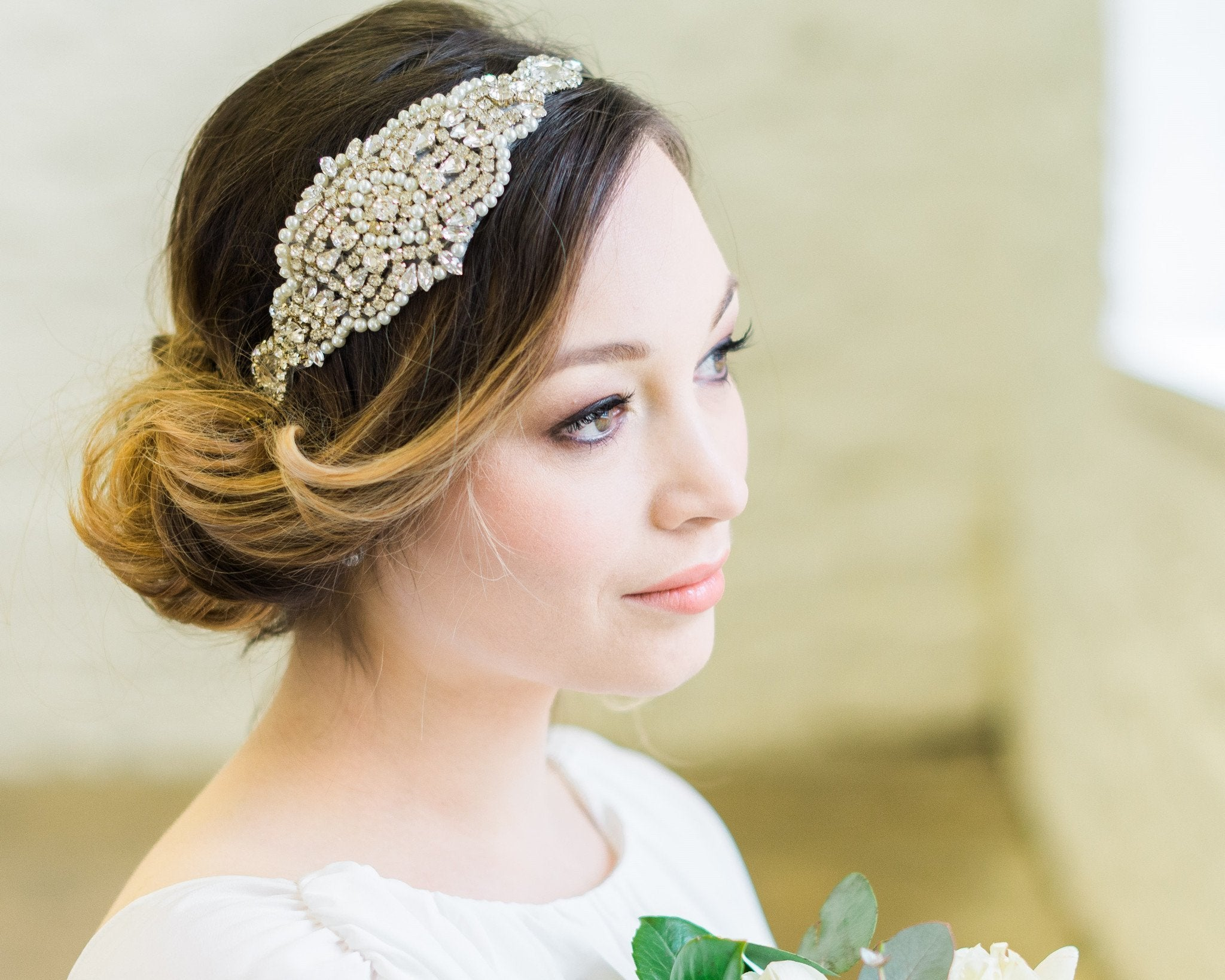 Embellished Applique Headband, Caroline 1