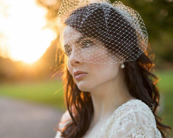 Birdcage Veils & Fascinators - French Net Birdcage Veil, Eliza