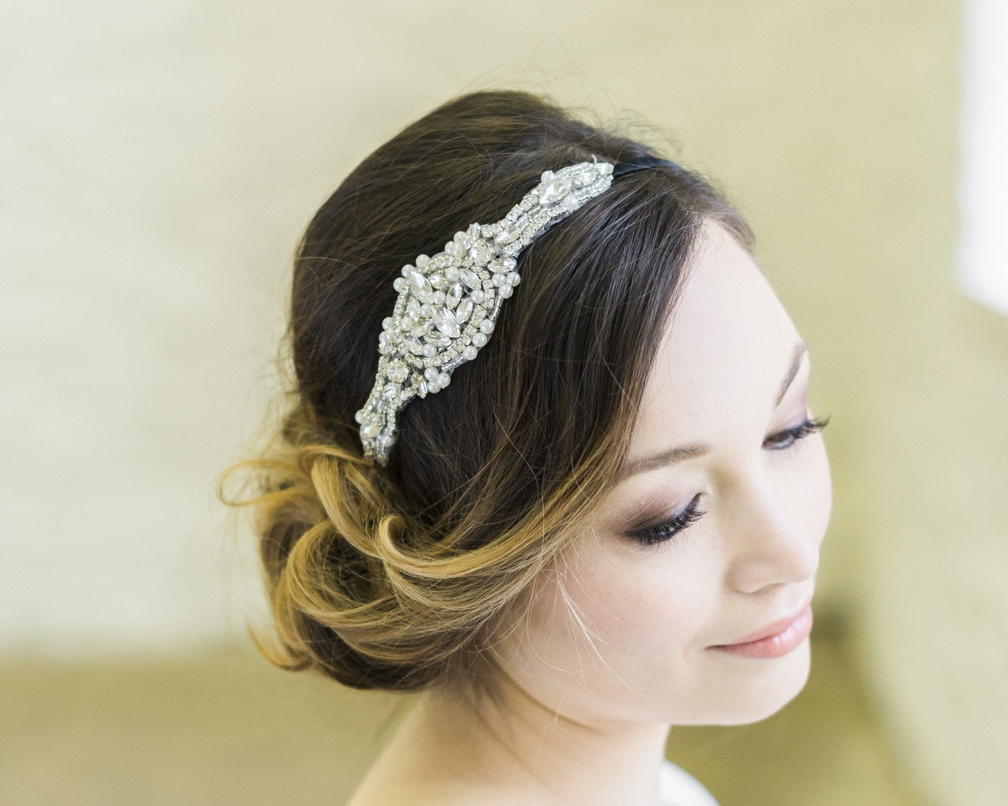 Jewelled Embellished Appliqué Headband, Blake