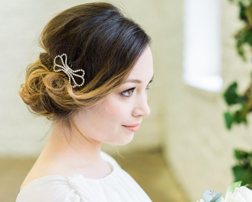 Vintage Inspired Style Wedding Comb, Bow 4