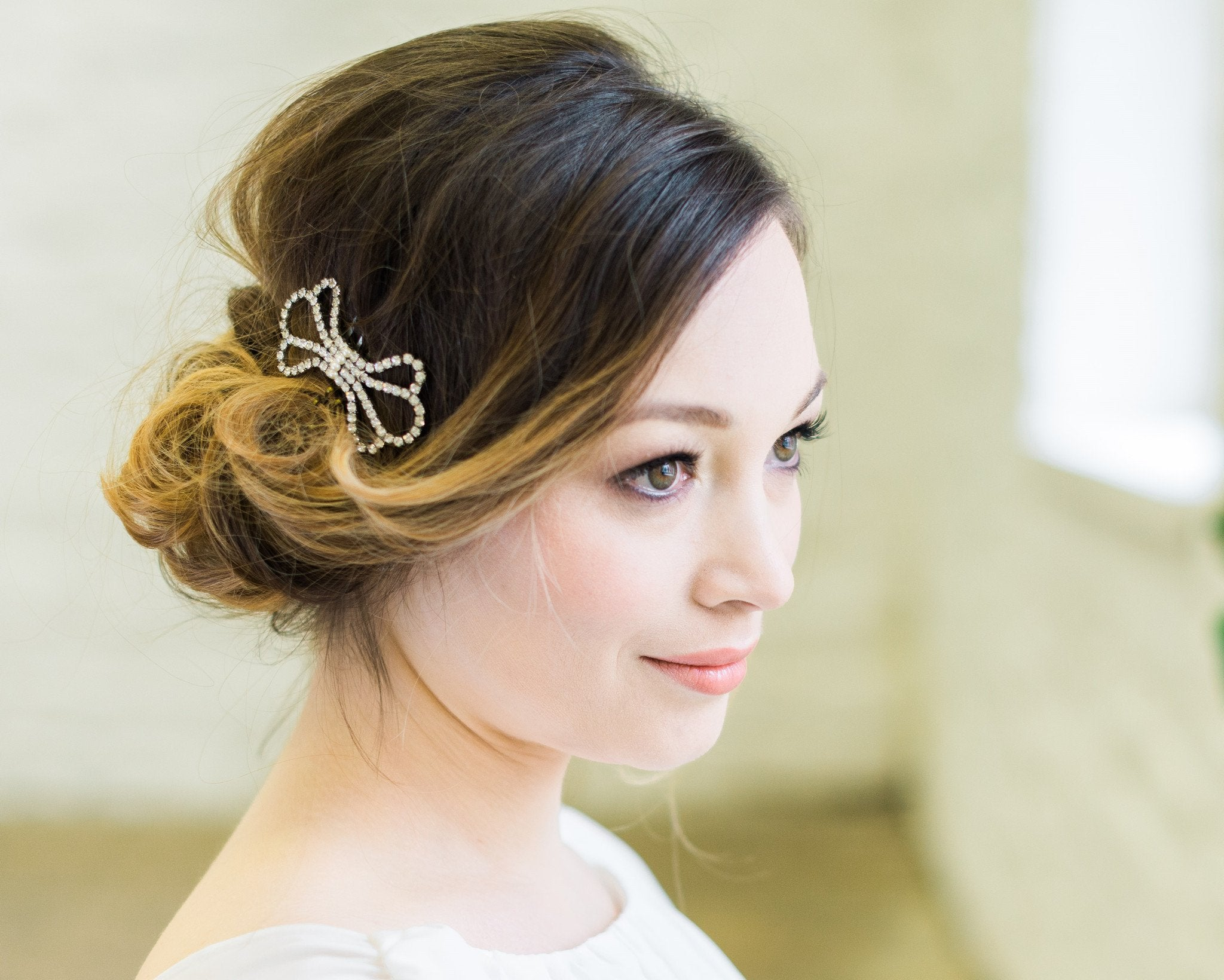 Vintage Inspired Style Wedding Comb, Bow 3