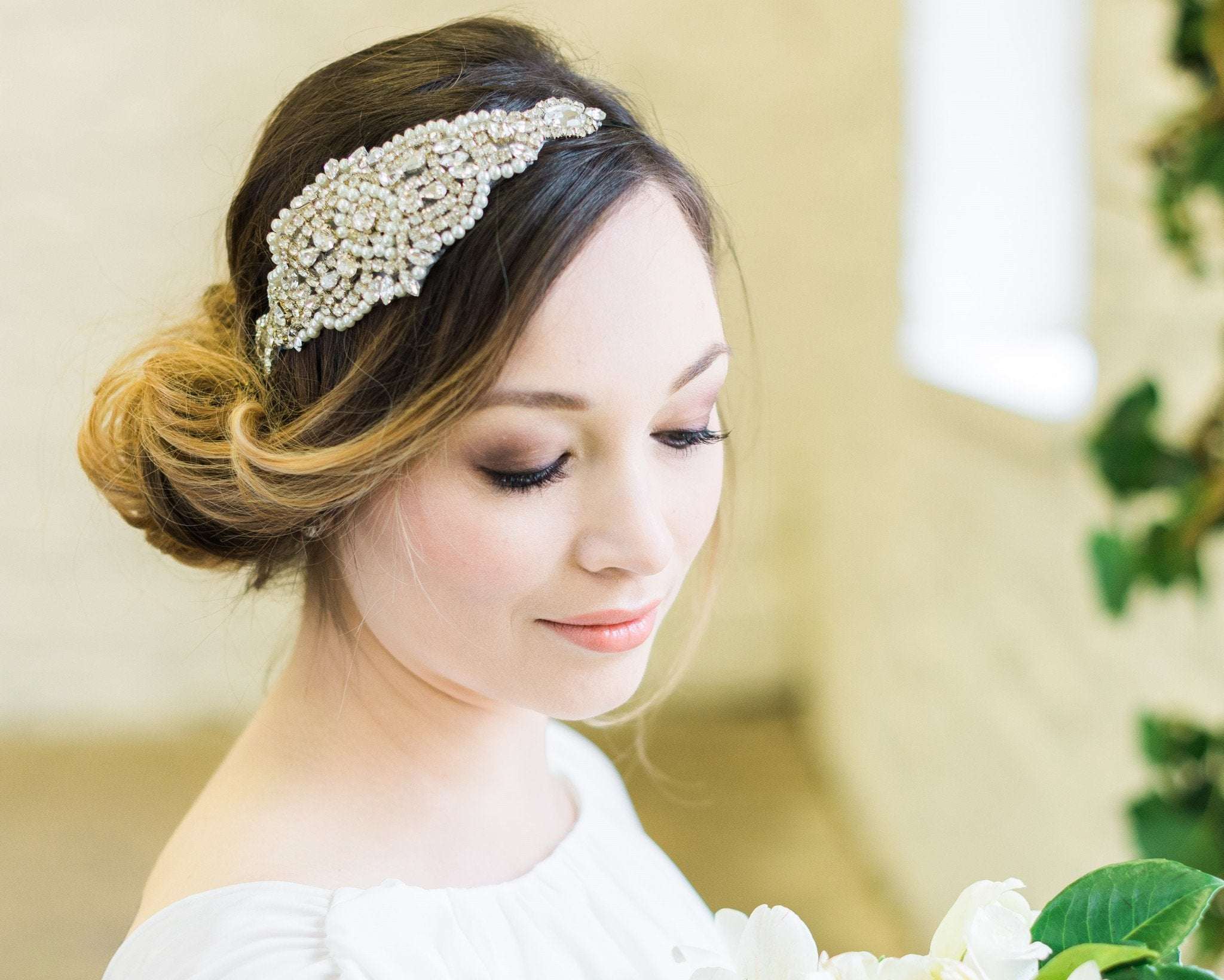 Embellished Applique Headband, Caroline