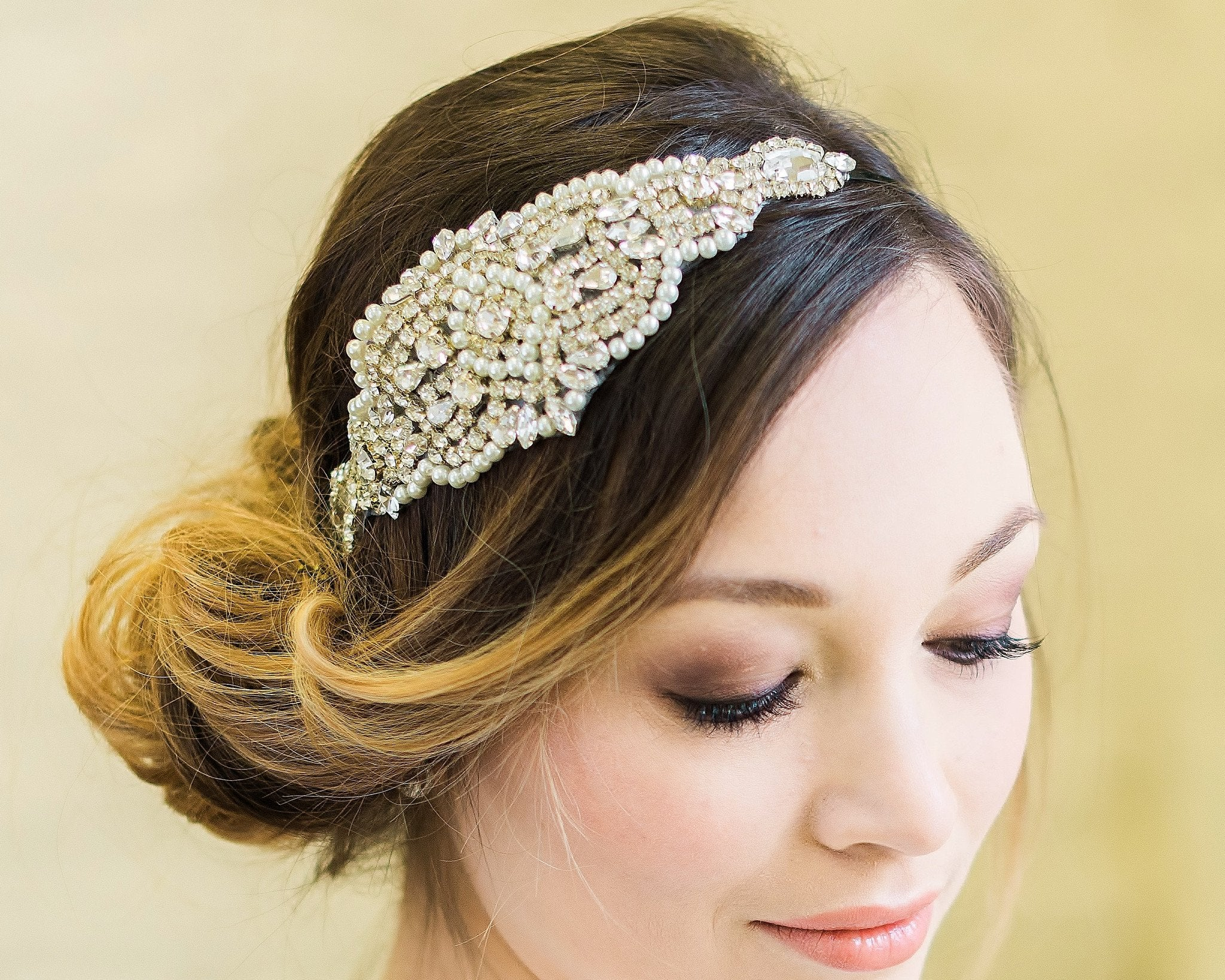 Embellished Applique Headband, Caroline 3