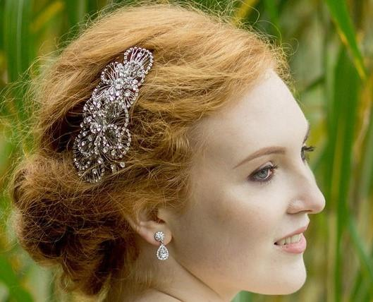 Art Deco Style Wedding Hair Comb, Christina