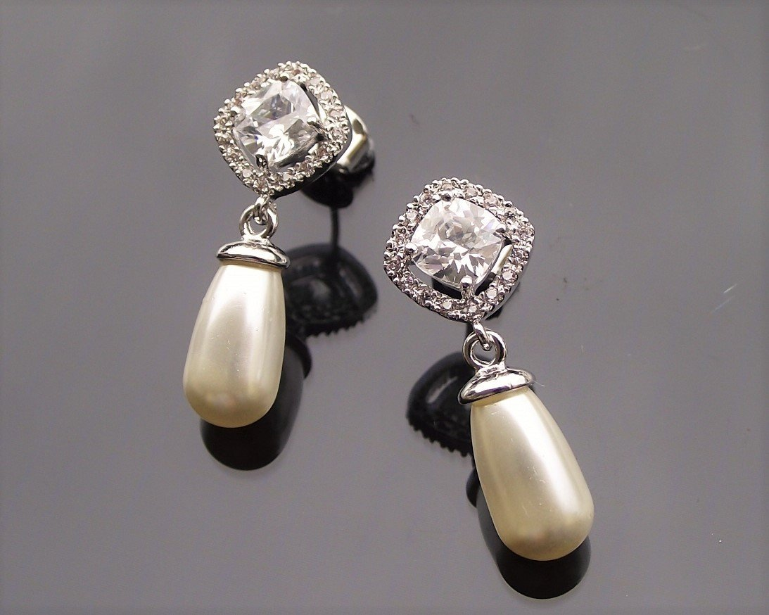 Fifi silver earrings pearl 4