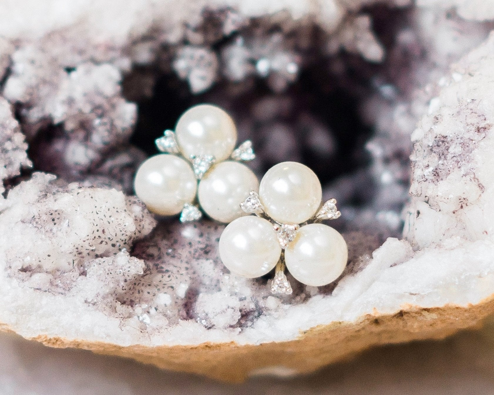 Vintage Inspired Pearl Stud Earrings, Maud