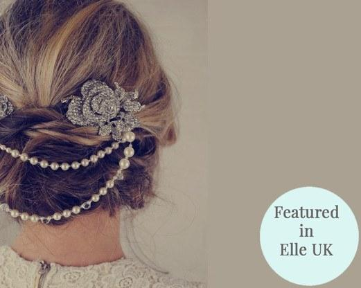 Pearl/Crystal Hair Drapes - Vintage Style Hair Draping Pearls And Rhinestone Flower Features, Anita. Featured In Elle UK