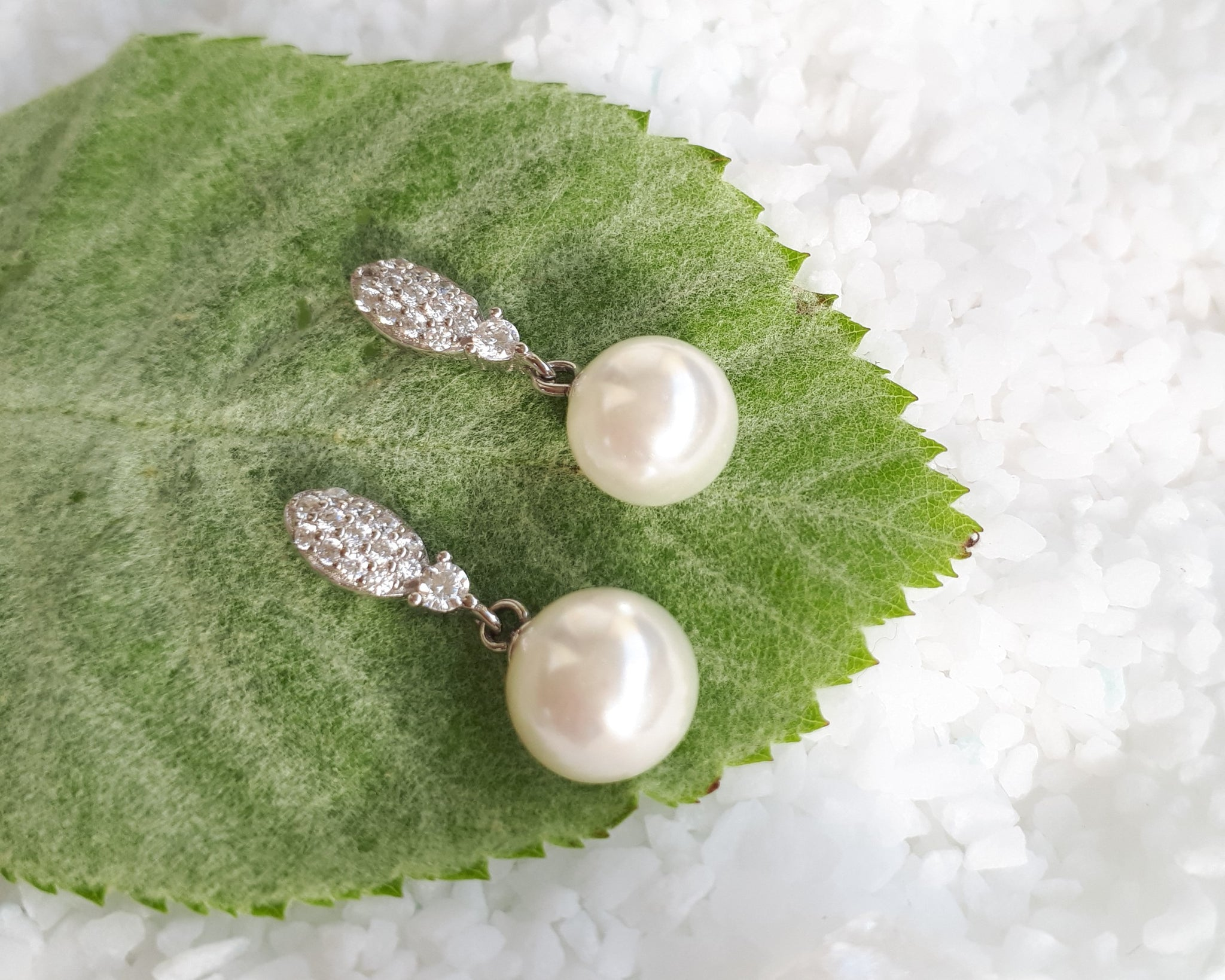 Rochelle Pearl Sterling Silver Earrings
