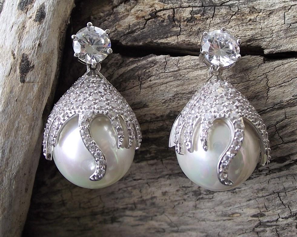Statement Pearl Drop Earrings, Shanghai 4