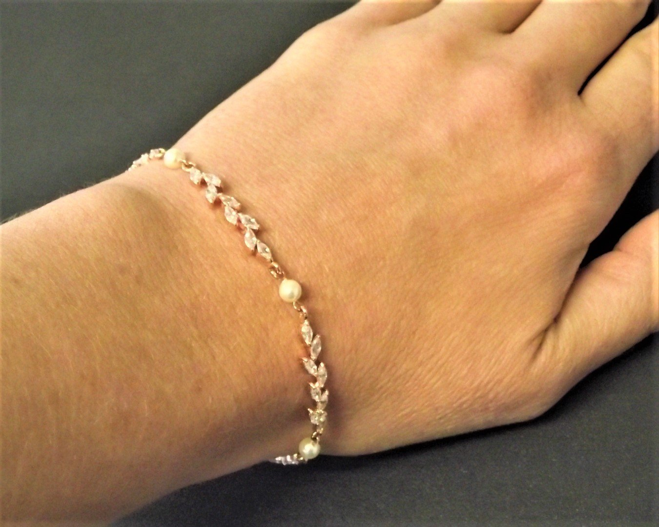 Rose Gold Shelly Bracelet 6