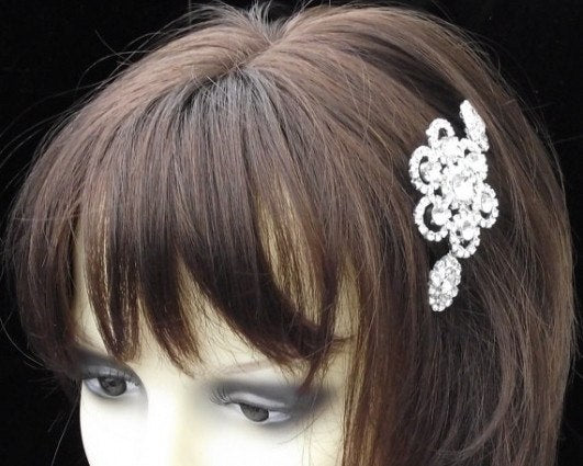 Rhinestone Bridal Hair Comb, Crystal Head Piece, MILAN