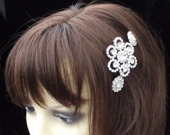 Rhinestone Bridal Comb, Crystal Head Piece, MILAN
