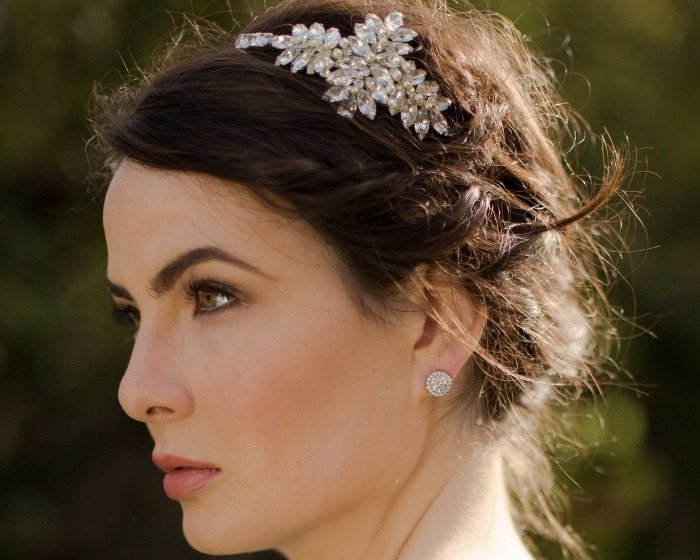 Vintage Side Headpieces - Vintage Style Deco Hairband, Wedding Headpiece, Duchess