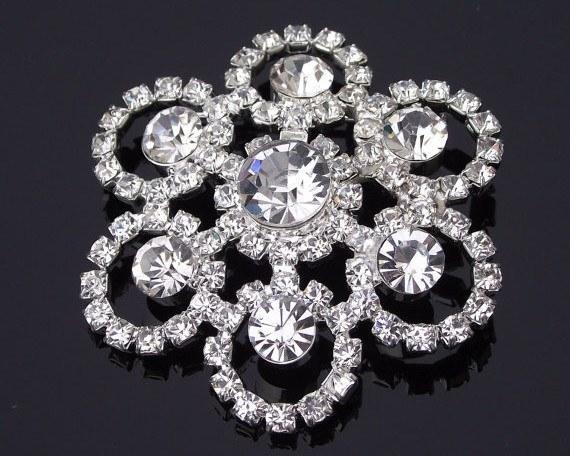 Wedding Brooches - Crystal & Rhinestone Brooch, Bridal Brooch, Milan