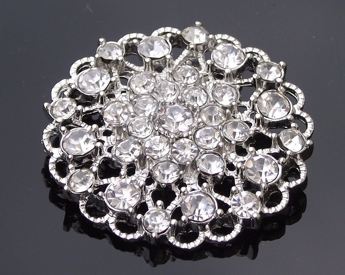 Wedding Brooches - Rhinestone Vintage Style Brooch, Amanda