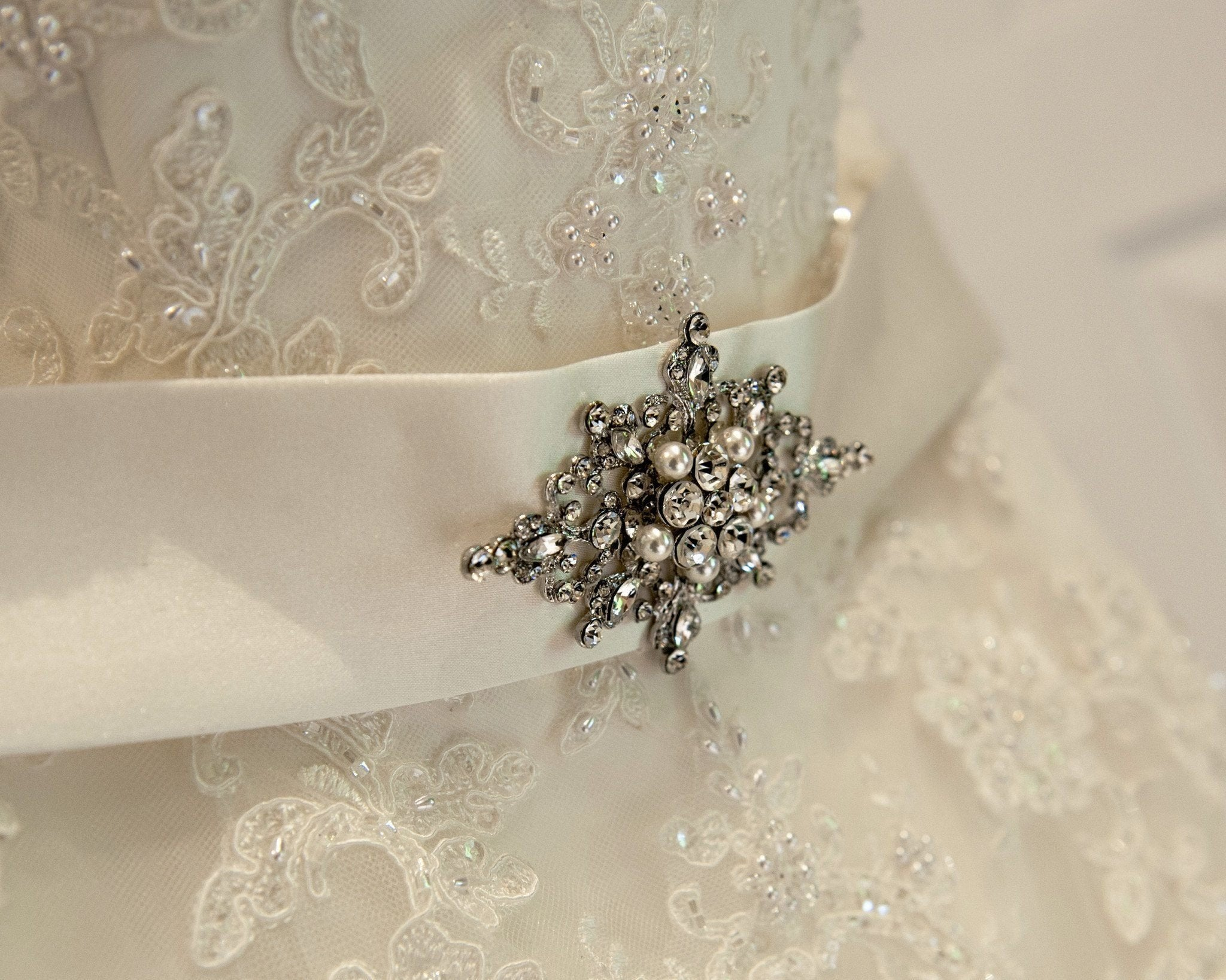 Wedding Brooches - Victorian Style Pearl Brooch, Chloe