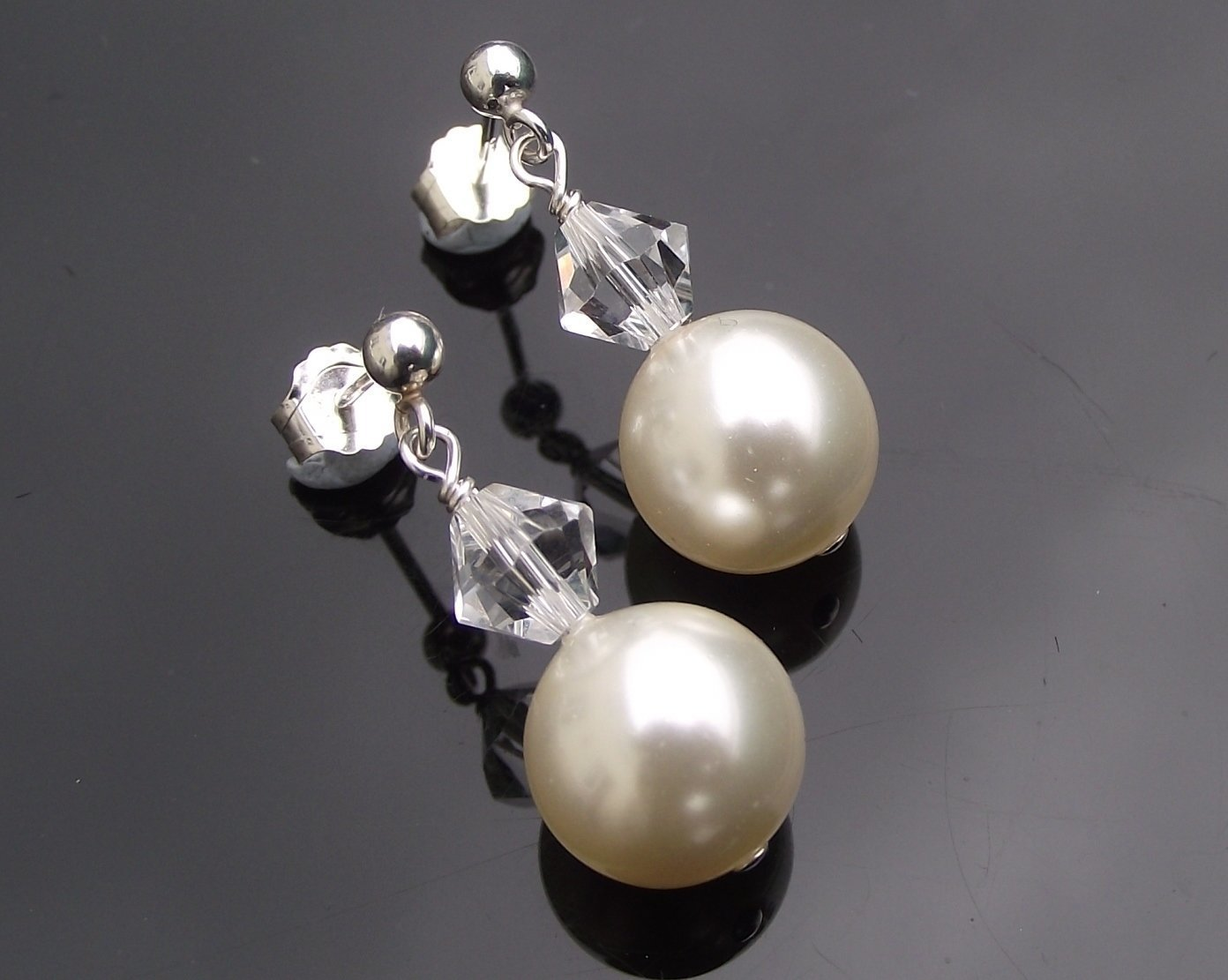 Wedding Earrings - Bridesmaids Drop Pearl Earrings, Clarissa