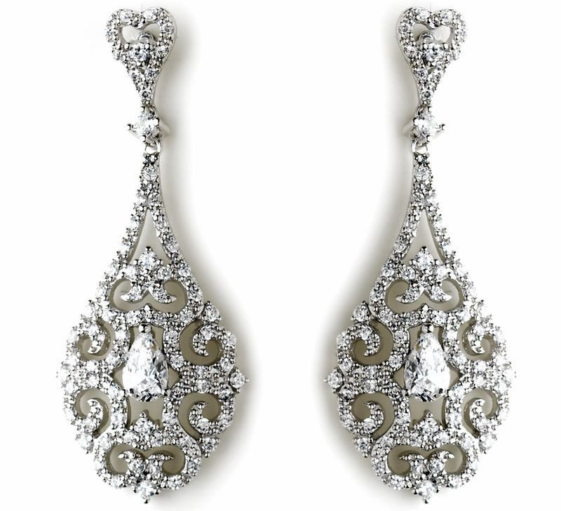 drop style filigree and earrings halo jules bridal