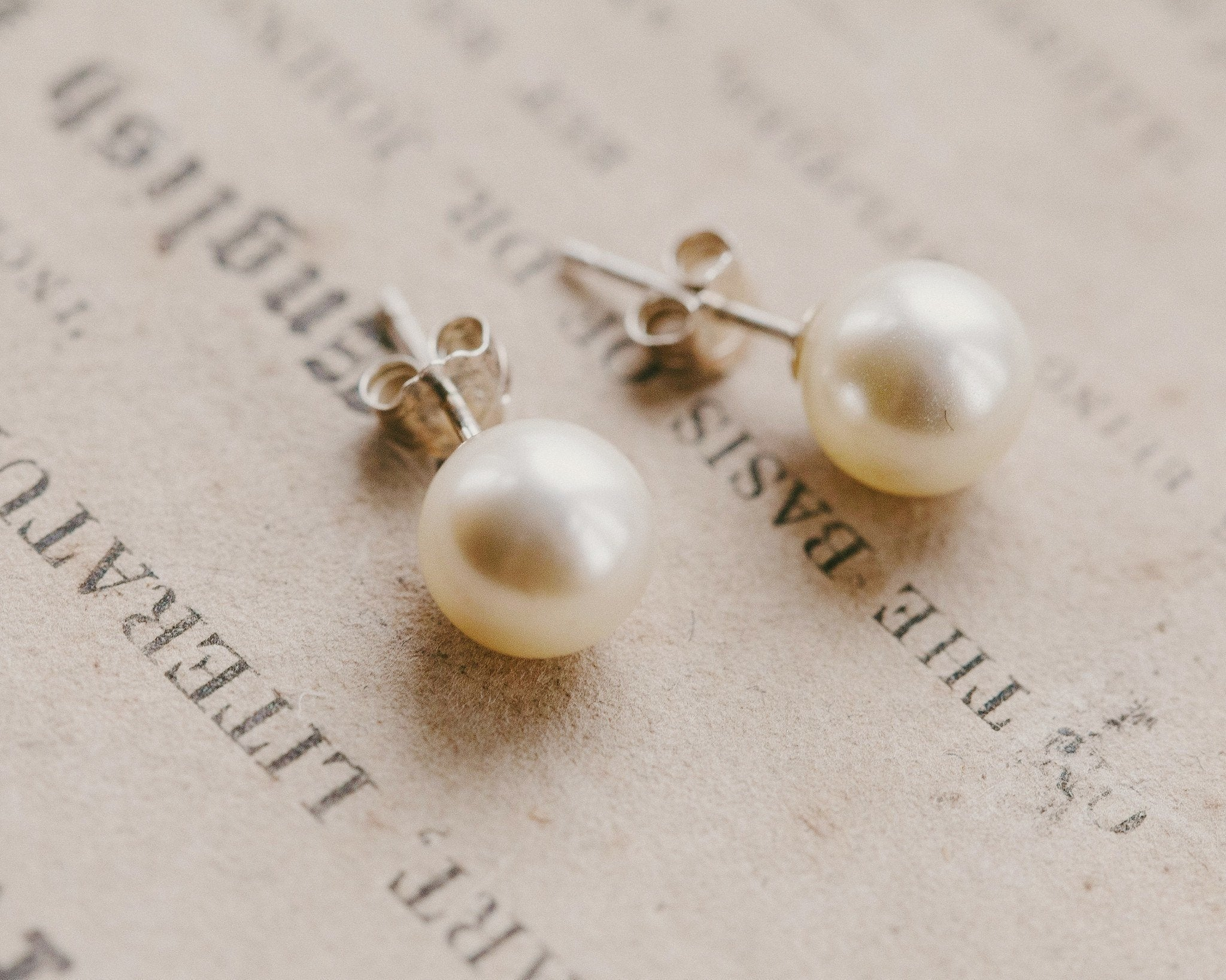 Wedding Earrings - Pearl Stud Earrings, Rosie