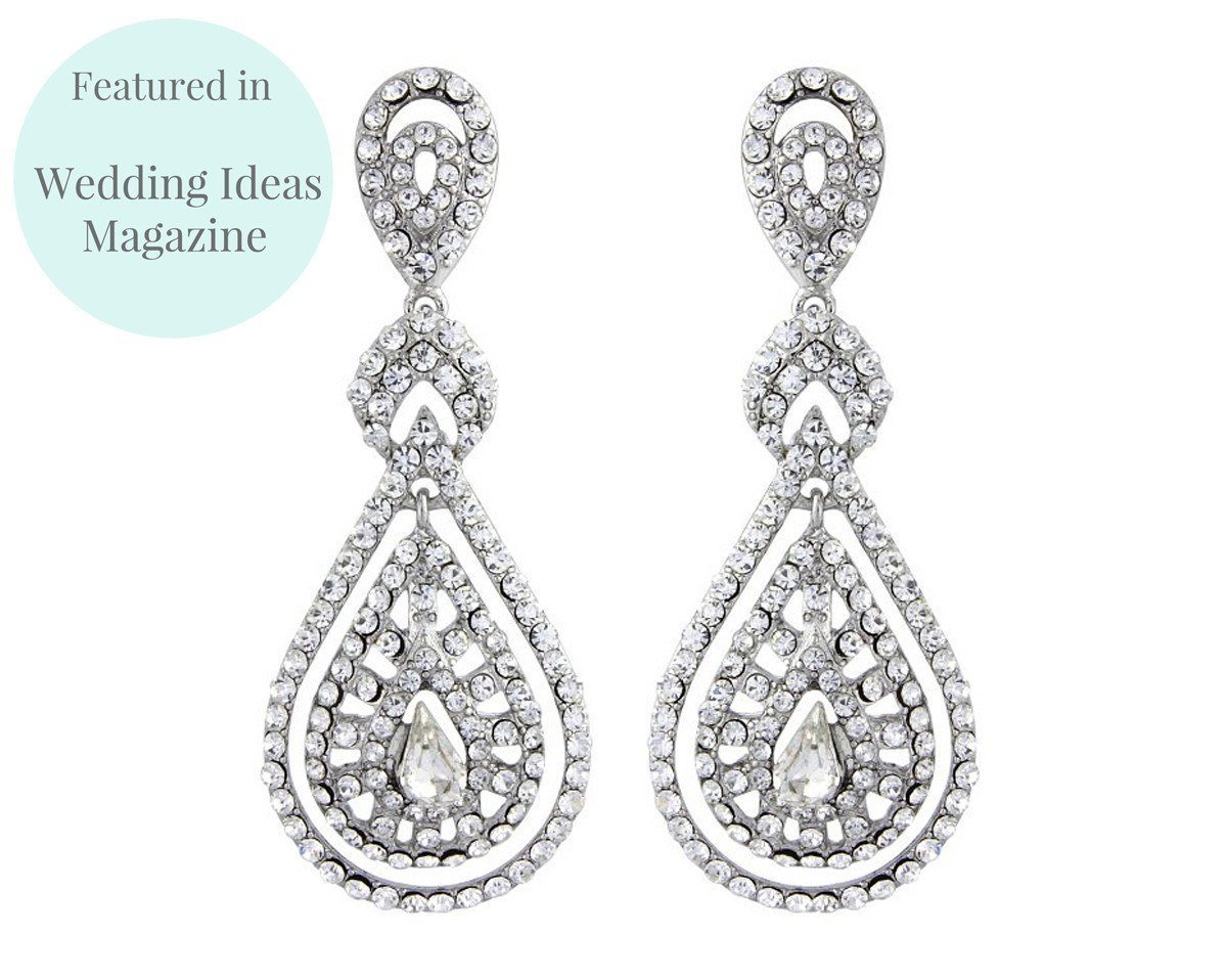 Wedding Earrings - Romantic Style Chandelier Clip-on Earrings, Savoy
