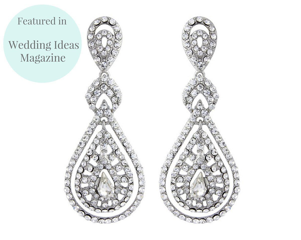 Wedding Earrings - Romantic Style Chandelier Earrings, Savoy