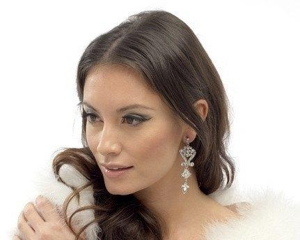 Wedding Earrings - Venetian Style Crystal Drop Earrings, Belle
