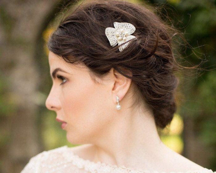 Wedding Hair Clips - Vintage Inspired Petal Wedding Hair Clip, Jessica