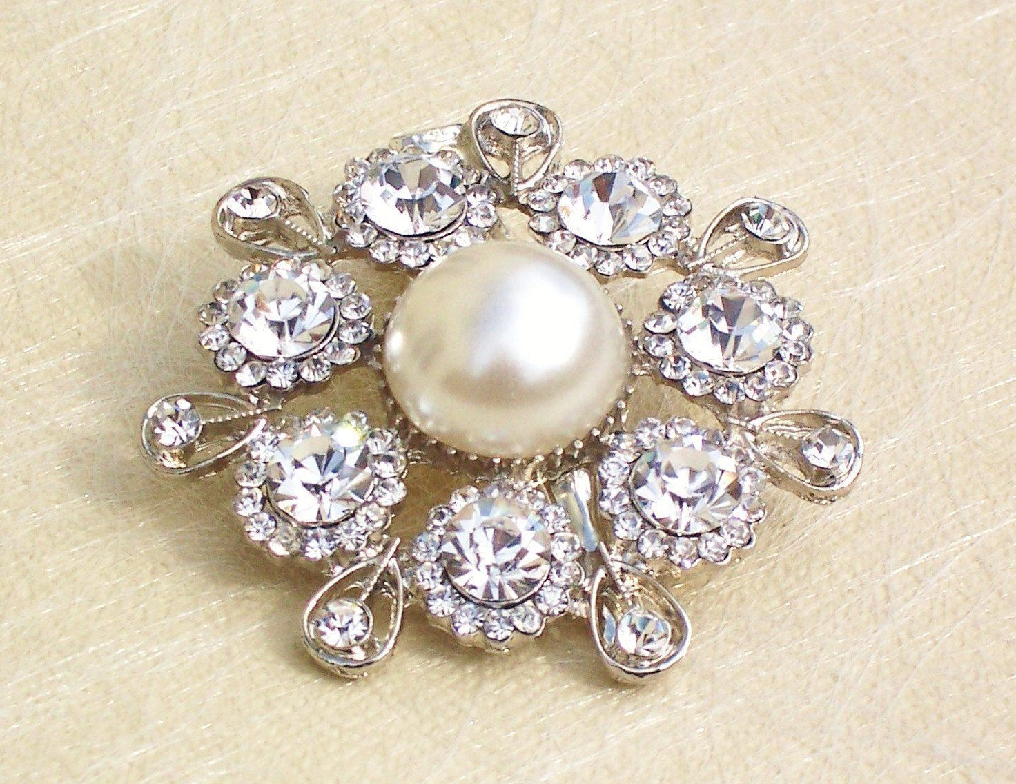 Wedding Hair Clips - Vintage Style Hair Clip, Ivory Pearl, Alex