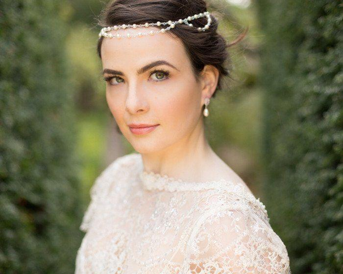 Wedding Hair Combs - Bohemian Style Pearl And Crystal Headband, St.Tropez