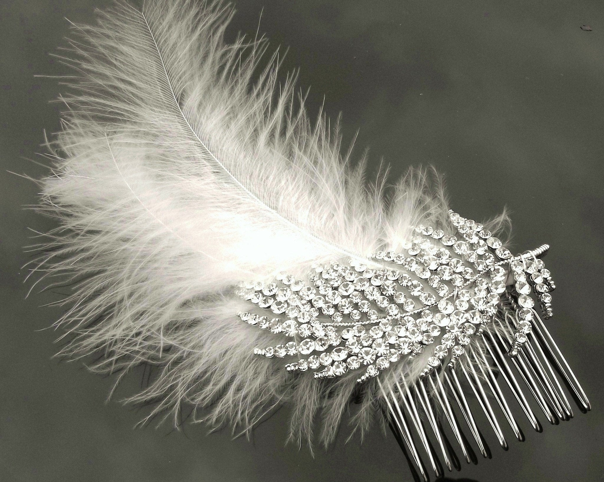 Wedding Hair Combs - Crystal Encrusted Art Nouveau Style Hair Comb, Trish