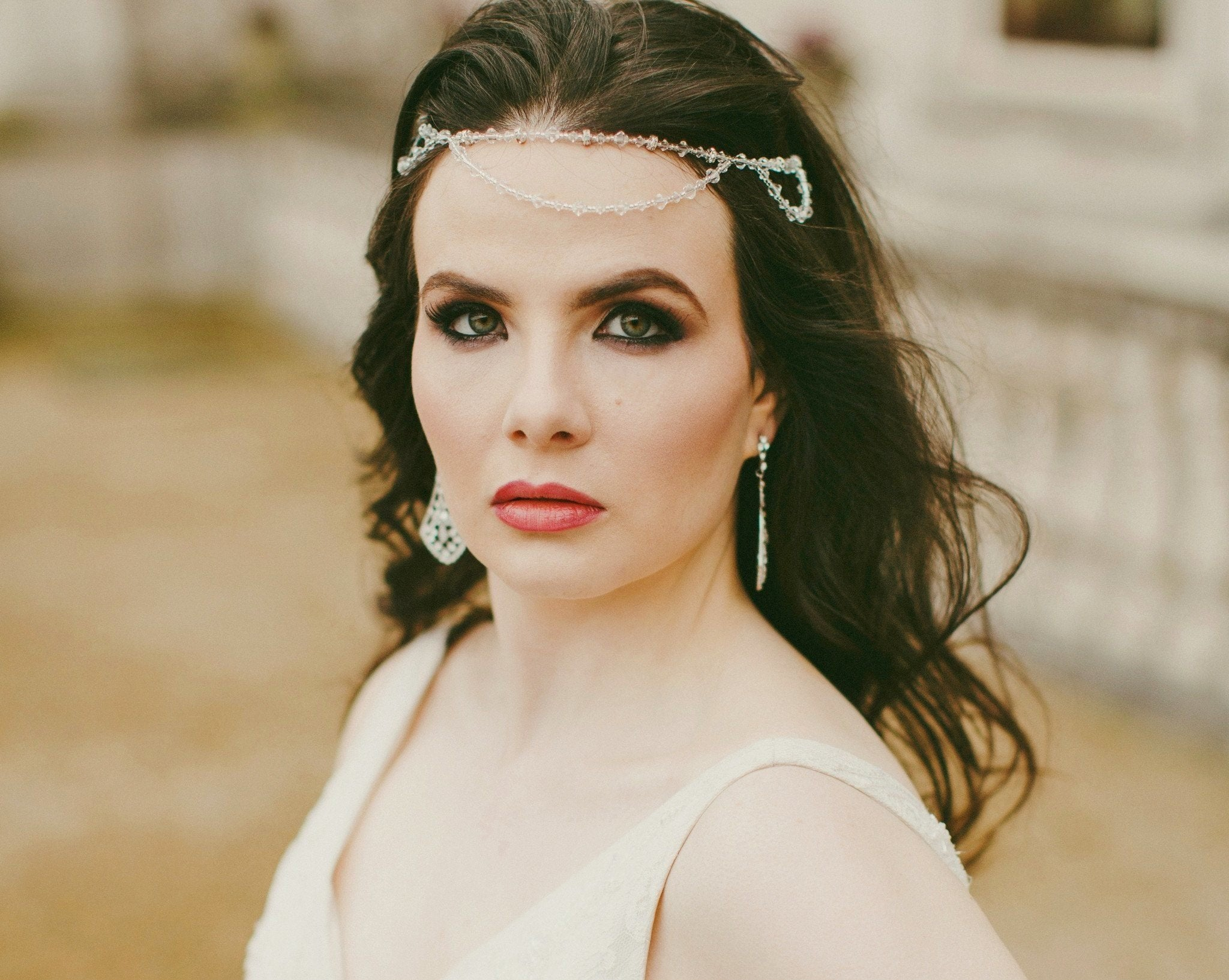 Wedding Hair Combs - Swarovski Crystal Headband, St.Tropez