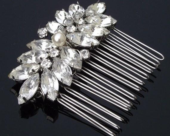 Wedding Hair Combs - Vintage Inspired Style Wedding Comb, Lucia Mini