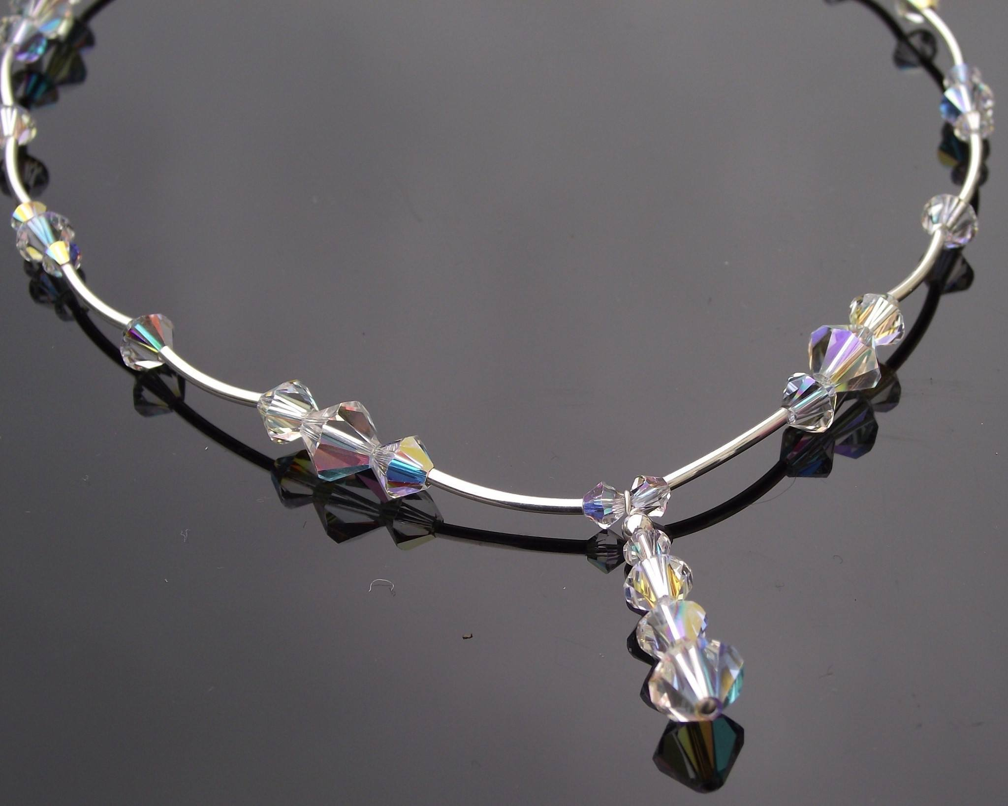 Wedding Necklace - Beautiful Swarovski Crystal Wedding Necklace, Tabitha