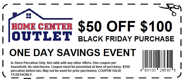 Home Center Outlet Save 30% - 60% Everyday
