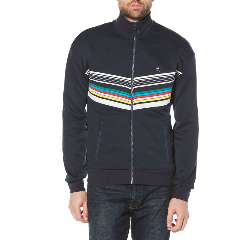 Original Penguin Men's Stripe Track Jacket