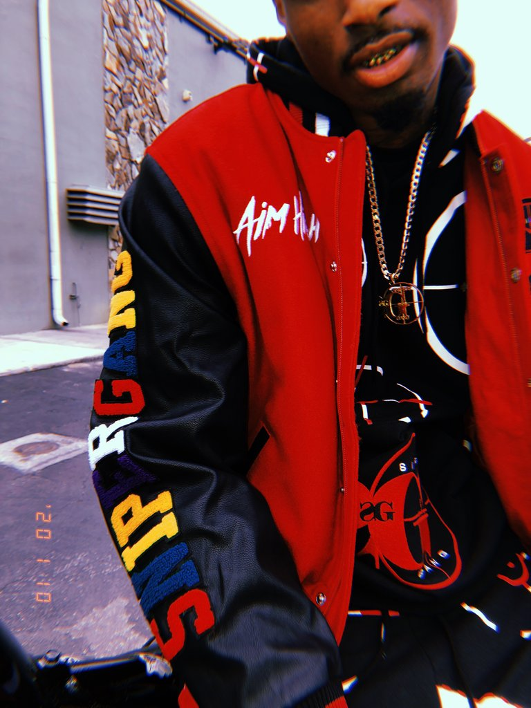 Sniper Gang Aim High Varsity Jacket