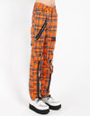 Tripp NYC Men's Plaid Bondage Pants - Orange