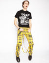 Tripp NYC Men's Plaid Bondage Pants - Yellow