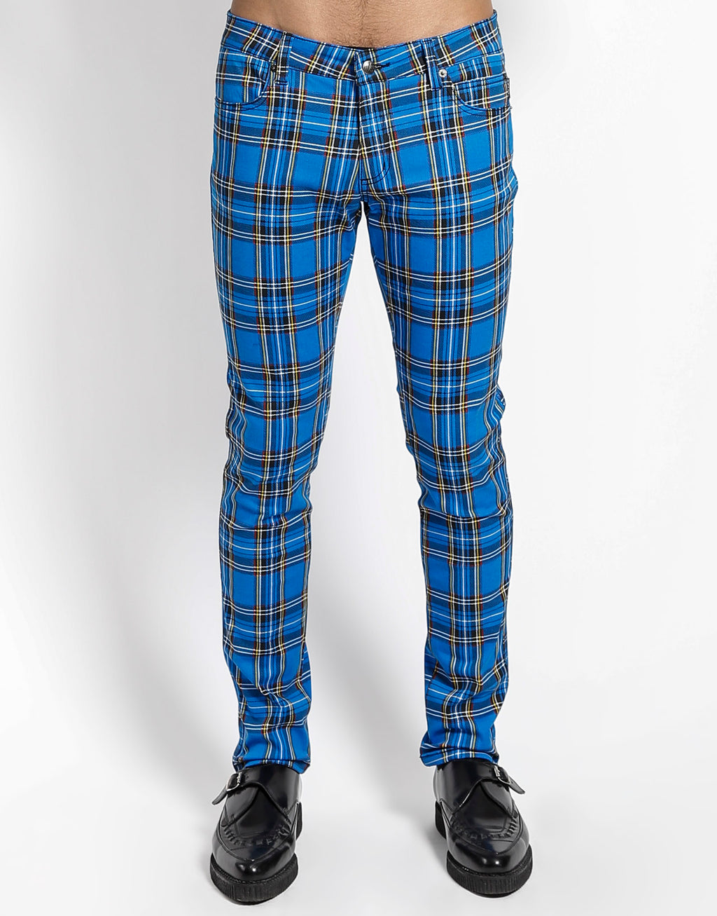 Tripp NYC Men's Plaid Rocker Jean Pants