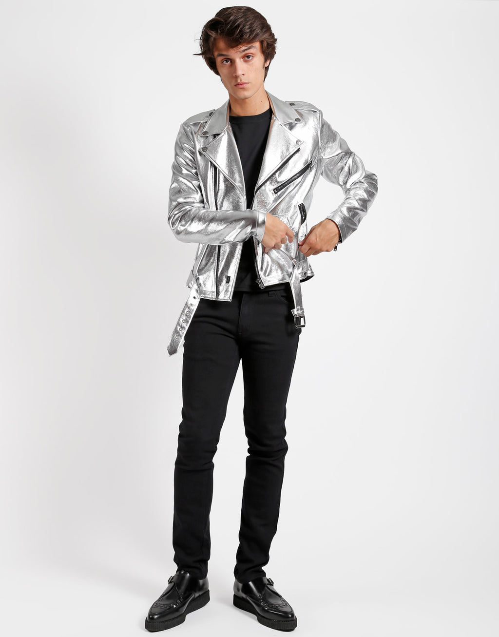 Tripp NYC Men's Metallic Moto Jacket