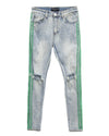 Trinity Kays Kulture Double Paint Stripe Jeans - Green Stripes